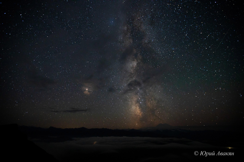 звездное небо на плато Канжол